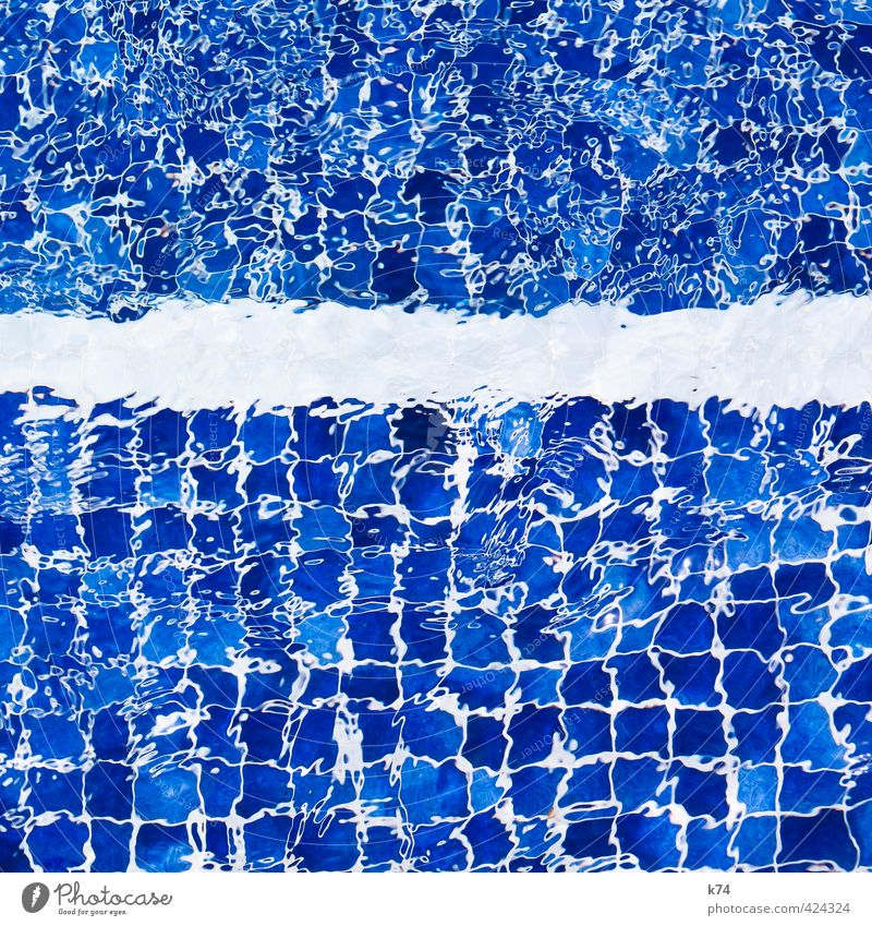 Blue Water White Summer Relaxation Cold Swimming & Bathing Fresh Wet Swimming pool Tile Fluid Square