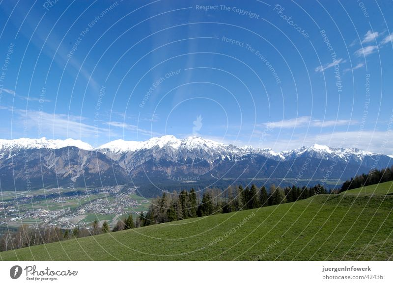 Landscape Clouds Mountain Graffiti Meadow Large Federal State of Tyrol Illustration Street art