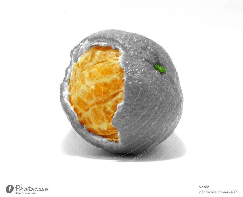 Mandarin Inside Tangerine Molt Healthy Fruit Bowl Sheath Character Black & white photo