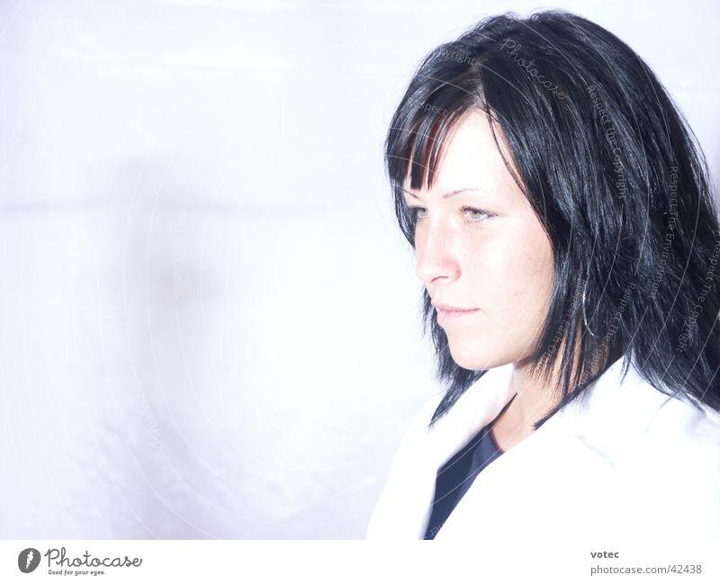 reflective Portrait photograph Woman Model Beautiful Face Looking