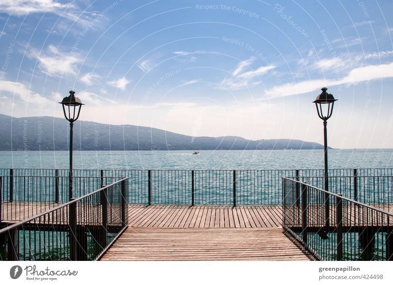 Vacation & Travel Summer Water Landscape Beach Mountain Warmth Swimming & Bathing Lake Vantage point Italy Beautiful weather Bridge Romance Cycling tour