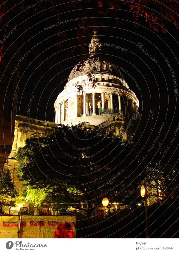 London at night Night House of worship Religion and faith Saint Paul Cathedral Architecture