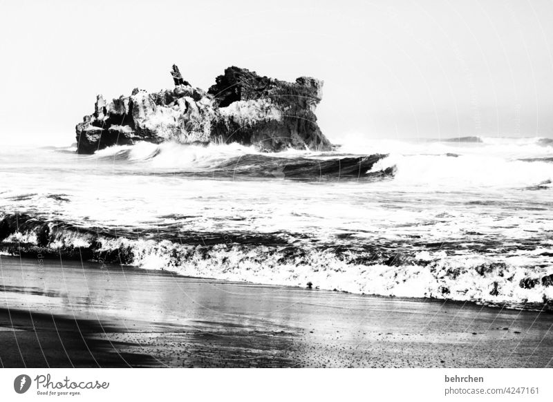 Indestructible Black & white photo ocean especially Gorgeous Indian Ocean Sky coast South Africa knysna Waves Landscape Nature stormy Wild Unpredictable Tourism