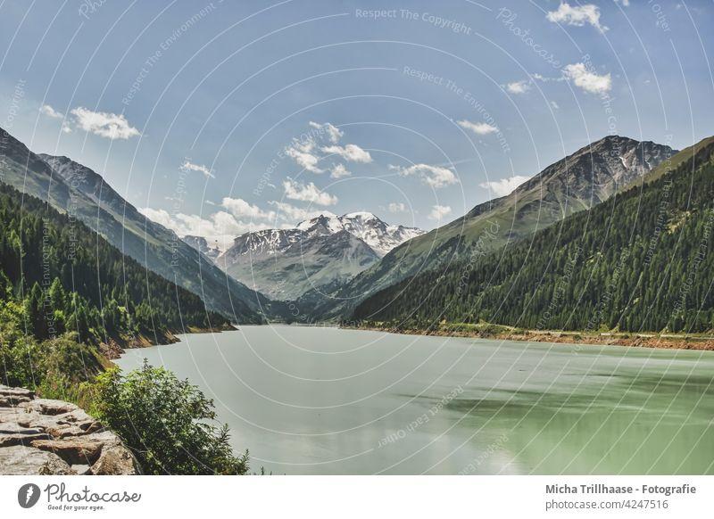 Gepatsch - Reservoir in the Kaunertal / Austria Gepatsch - reservoir Kaunertal Glacier Tyrol Alps mountains Peak Water Lake Body of water valleys rock Rock