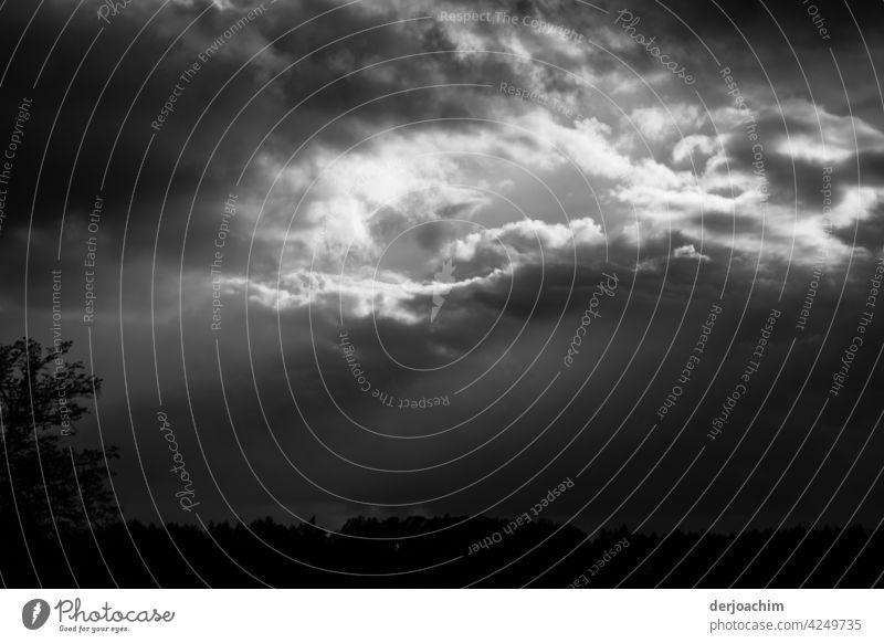 Illuminating white swirl of clouds over the dark land. Clouds Sky Exterior shot Weather Bad weather Deserted Environment Day Nature Climate Storm Gale