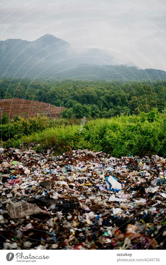 Landfill pollution landfill garbage trash environment dump rubbish waste disposal dirty plastic ecology pile junk recycle recycling industry environmental scrap
