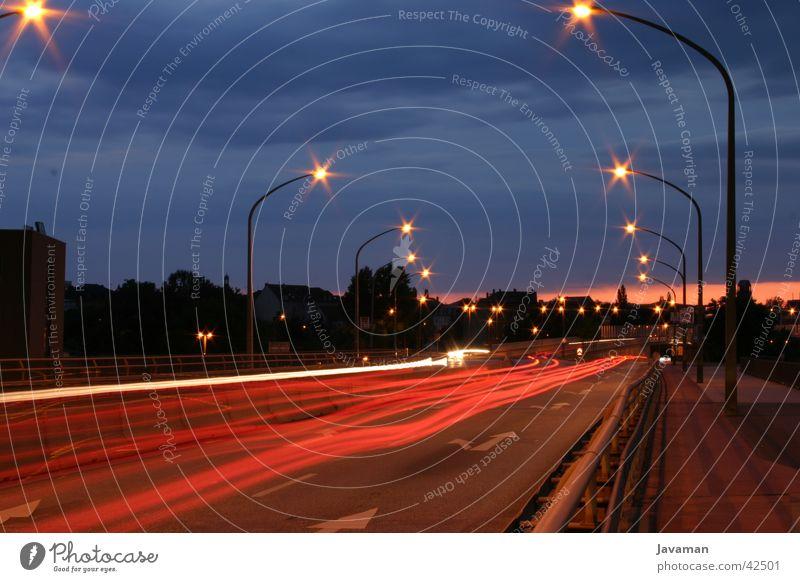 Nossner Bridge Dresden Night Long exposure Transport