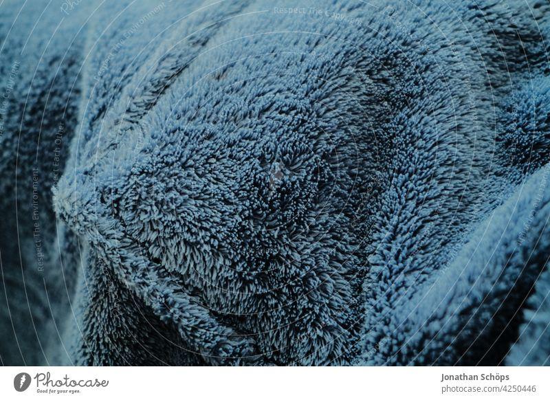 texture blue bathrobe close up Cloth Pattern Blue Bathrobe warming Dry background Close-up textile Material Design Cotton plant Style weave Colour Fashion