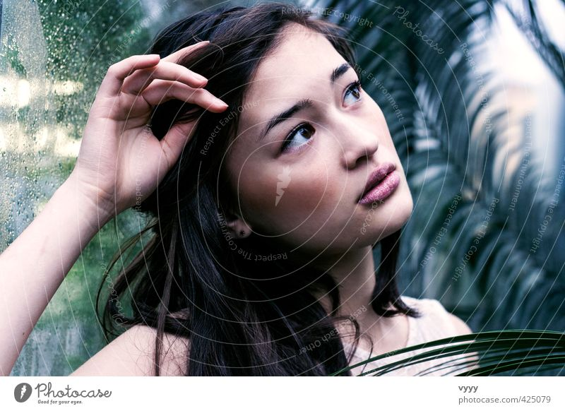 Human being Youth (Young adults) Young woman Adults 18 - 30 years Emotions Feminine Dream Moody Desire Longing Irritation Innocent