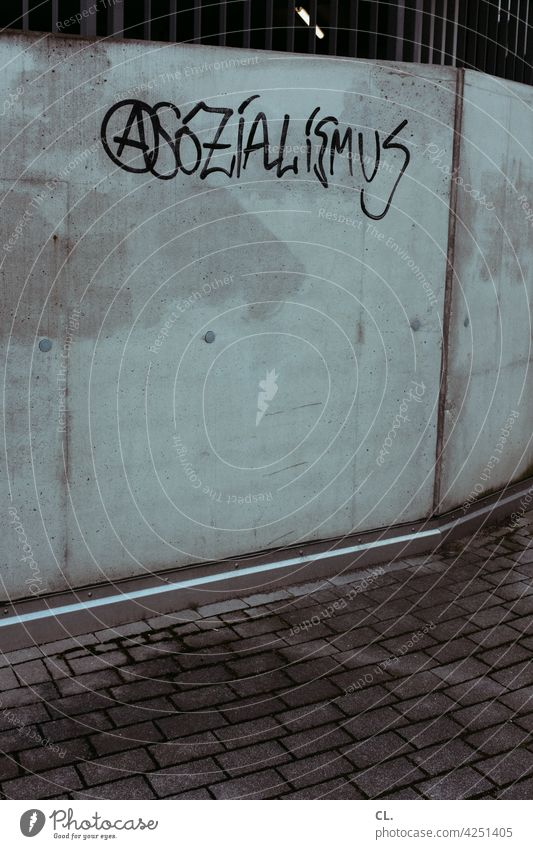 asocialism Socialism Anarchy Politics and state Society Sign Typography Characters Word Gray Wall (building) Company Ideology politically