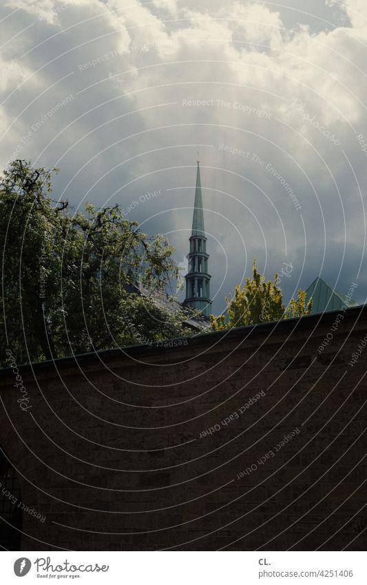 steeple Church Church spire Religion and faith Sky Clouds Belief Christianity