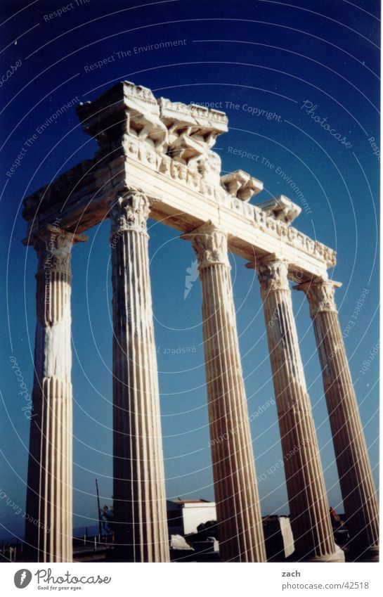 Gate to heaven Turkey Ambitious Ancient Art Tourism Tourist Success Historic Landmark Monument Column side Blue Sky Vacation & Travel Tourist Attraction Old