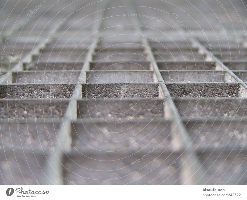 Grids from life Grating Dust Rectangle Industry Rust Metal Lanes & trails