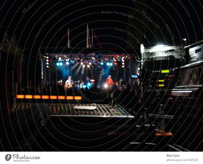 Mix the Band Shows Mixing desk Light Concert Music String Technology banana bishbones