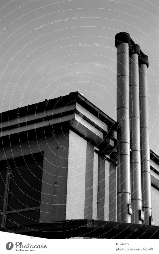 chimney Lemgo Architecture Black & white photo Chimney Industrial Photography