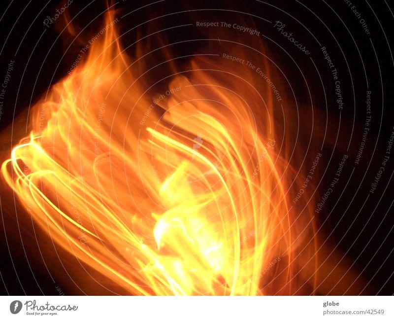 Red Orange Blaze Romance Flame Fireplace Embers