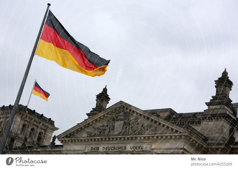 The German people Germany Berlin Reichstag German flag Government Bundestag Seat of government German Flag Reichstag building Capital city Politics and state