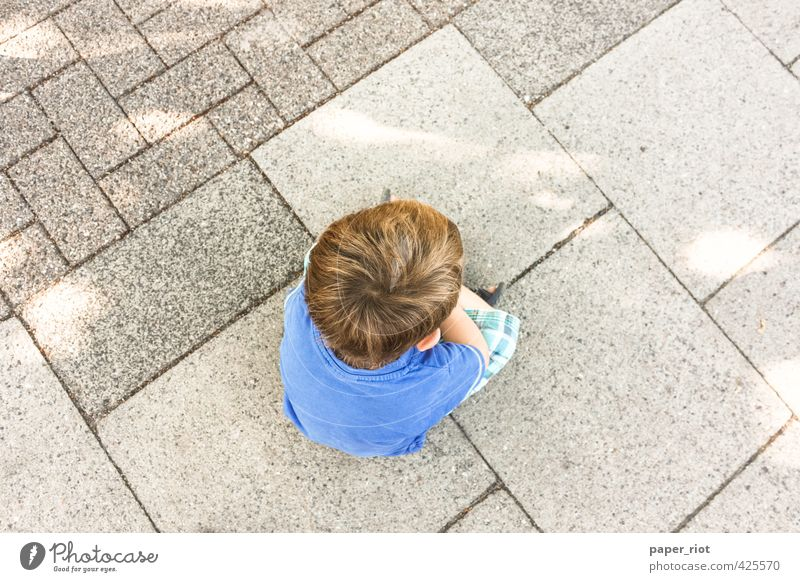 sitting on the ground Relaxation Education Kindergarten Child Masculine Boy (child) Brother Life Head 1 Human being 3 - 8 years Infancy Street T-shirt Pants