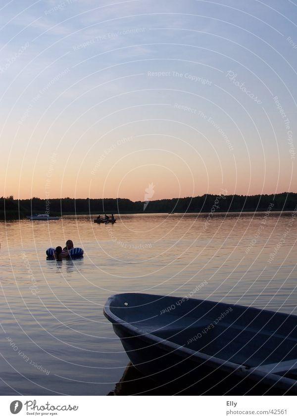 silence Sunset Twilight Watercraft Calm