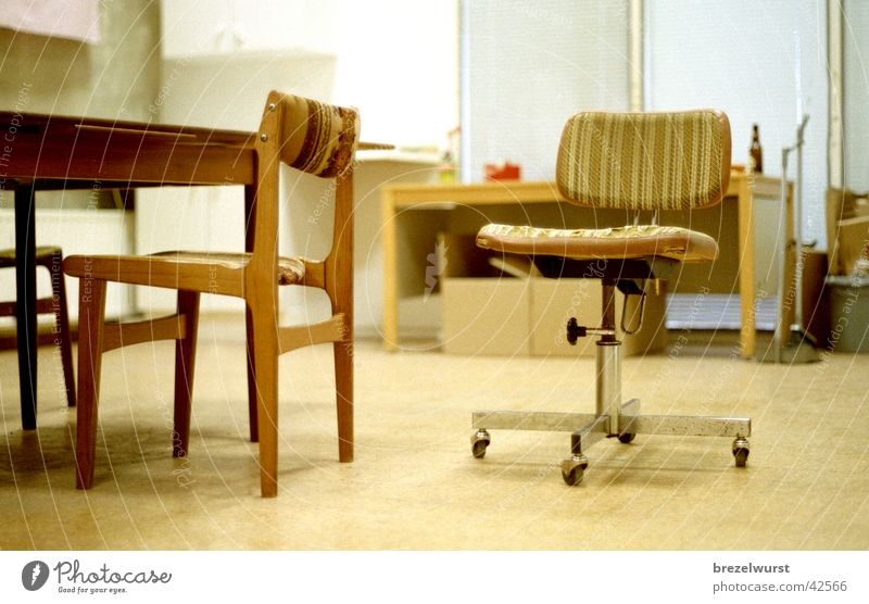 Office Tristesse Loneliness Empty Sixties Armchair Retro Chair Room Boredom Old Coil