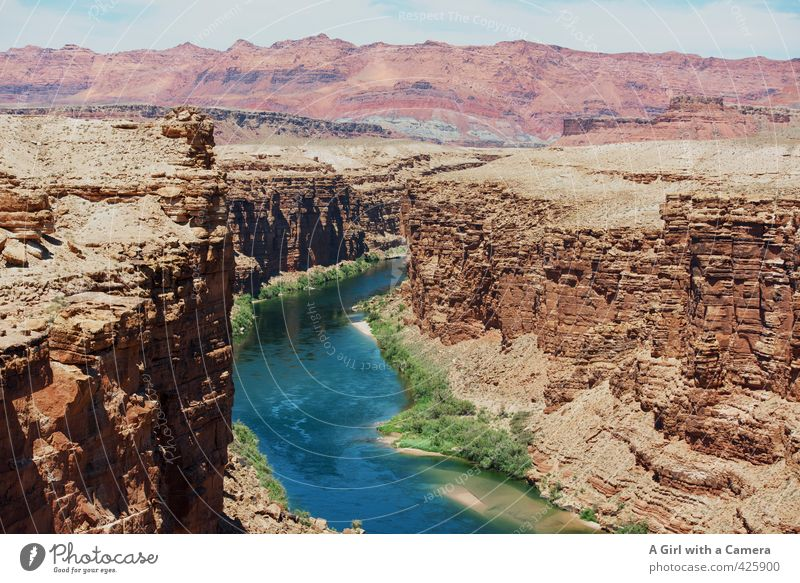 windy waters Environment Nature Landscape Elements Sand Summer Beautiful weather Rock Mountain River bank Desert Canyon Fluid Uniqueness Dry Blue Green