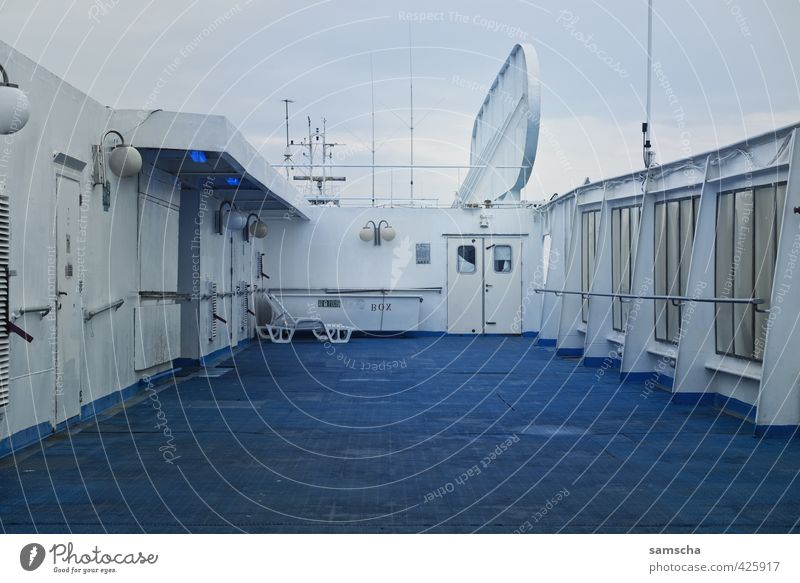 deck Vacation & Travel Adventure Far-off places Cruise Navigation Passenger ship Cruise liner Ferry On board Watercraft Deck Blue In transit Travel photography