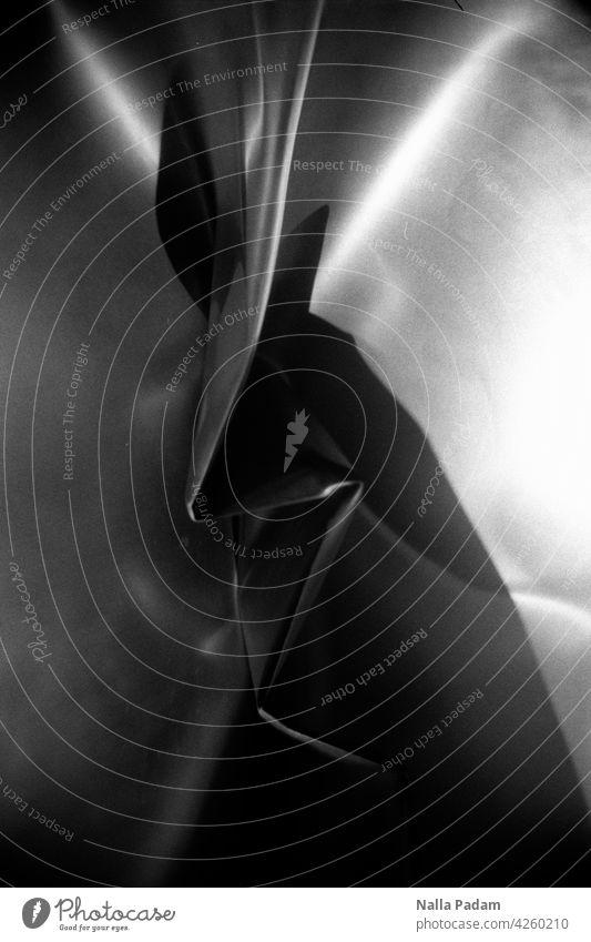 It's, uh... Analog Analogue photo Black & white photo black-and-white Shadow Light Wrinkles Cloth Zigzag unfamiliar creepy Line edge Corner