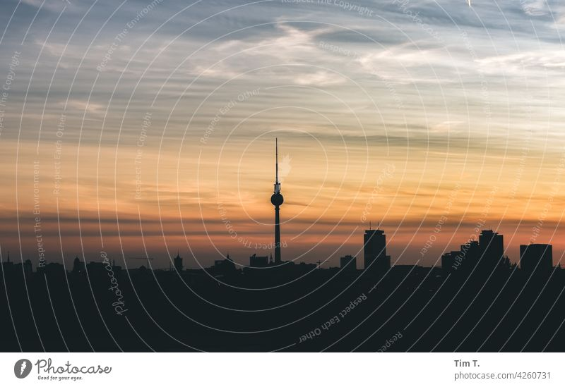Skyline Berlin Television tower Berlin TV Tower Downtown Downtown Berlin Tourist Attraction Landmark Capital city Architecture Town Manmade structures