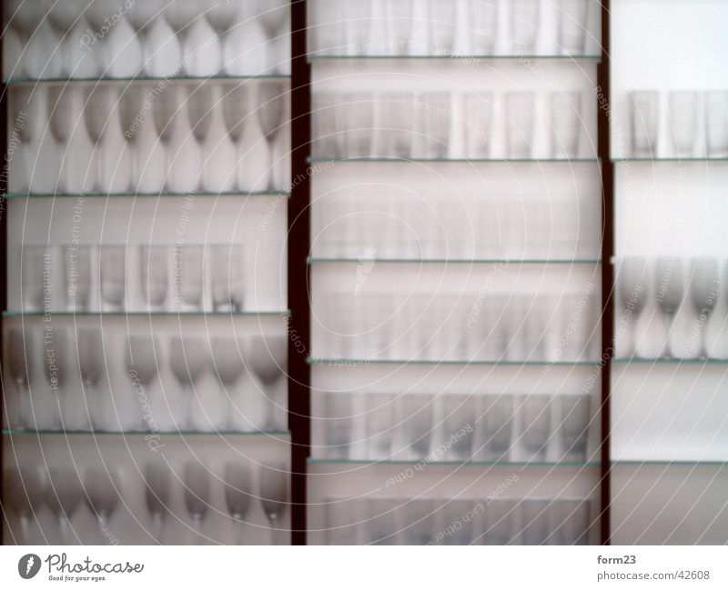 Glass Arrangement Kitchen Transparent Shelves