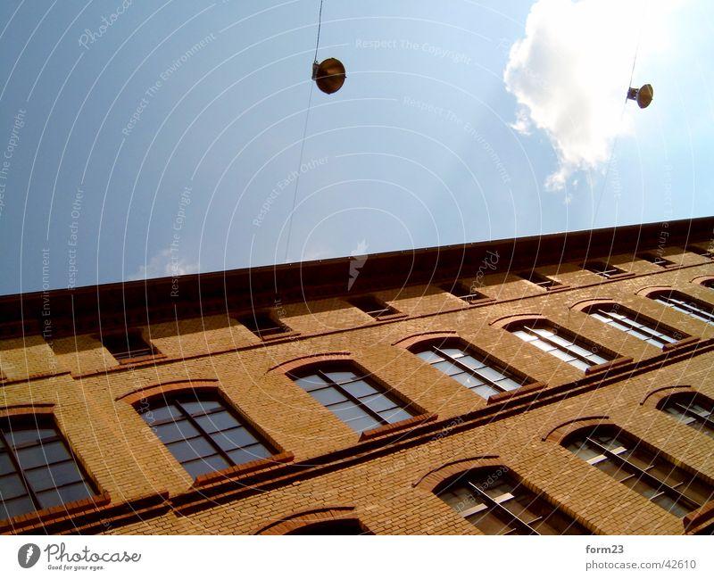 obliquely Clouds Window Architecture Lighting Sky Orange Blue Arrangement
