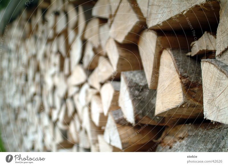 stack of wood Wood Splinter Firewood Stack of wood Burn aborted Nature