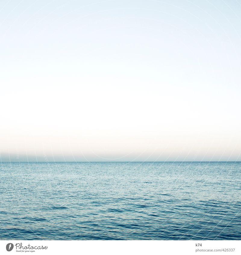 seascape Landscape Water Cloudless sky Horizon Beautiful weather Ocean Illuminate Free Fresh Infinity Blue Longing Esthetic Serene Hope Break Calm Dream