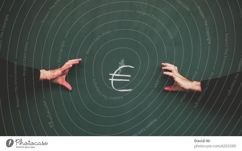 greedy for money Money greedily quarrel competition finance assets Inequity Euro € mine Addiction Egotistical men argue Greed