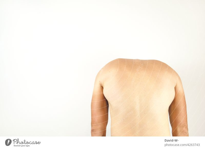 the back of a man Back Man Back pain Posture Anatomy Healthy Headless Spinal column Body Human being Naked Pain