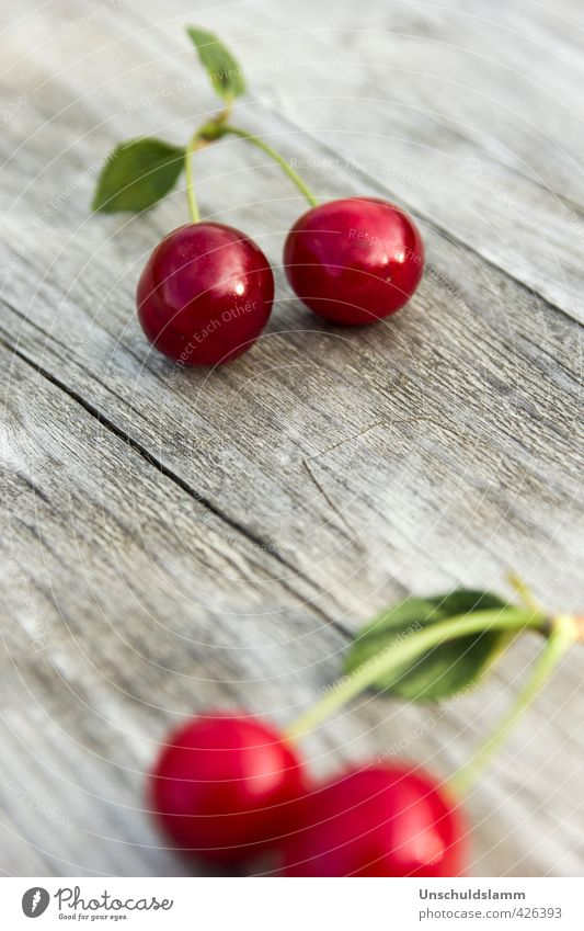 Let's cherry Food Fruit cherries Nutrition Living or residing Garden Decoration Kitchen Nature Summer Cherry Wood 2 4 Esthetic Fresh Bright Delicious Natural