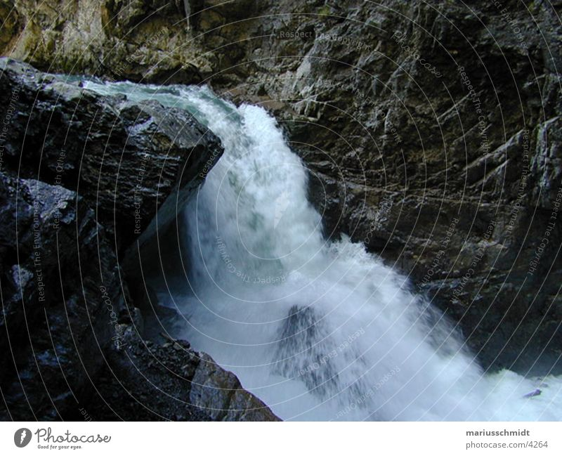 Nature Water Stone Rock Speed Fresh Electricity Brook Waterfall Refreshment Cave Mountain stream Force of nature