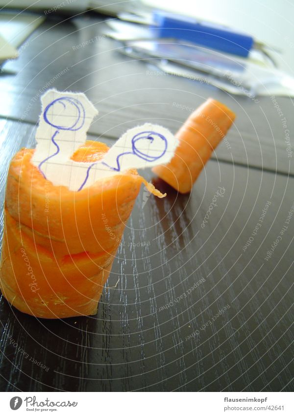 Office Healthy Paper Desk Feeler Vegetable Carrot Worm