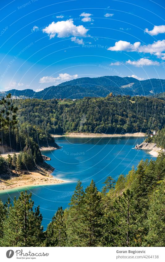 Zaovine lake in Serbia beautiful mountain view serbia sky natural forest tourism nature outdoor travel landscape scenic tree water adventure mountains scenery