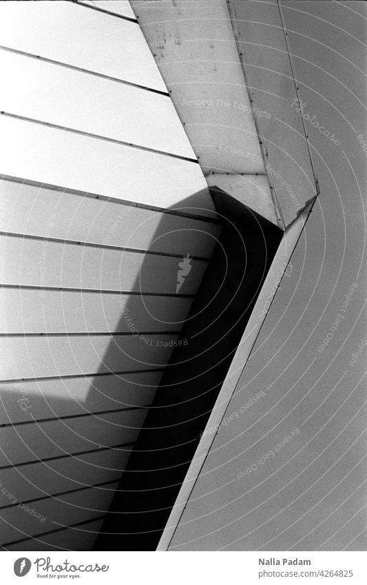 RUB Audimax B/W The Ruhr Bochum university ruhruni Analog Analogue photo black-and-white Black & white photo Architecture Building Facade Abstract detail Shadow