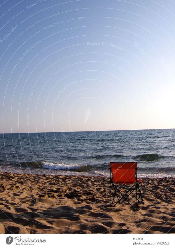 rest Ocean Beach Italy Europe Chair Evening Sun