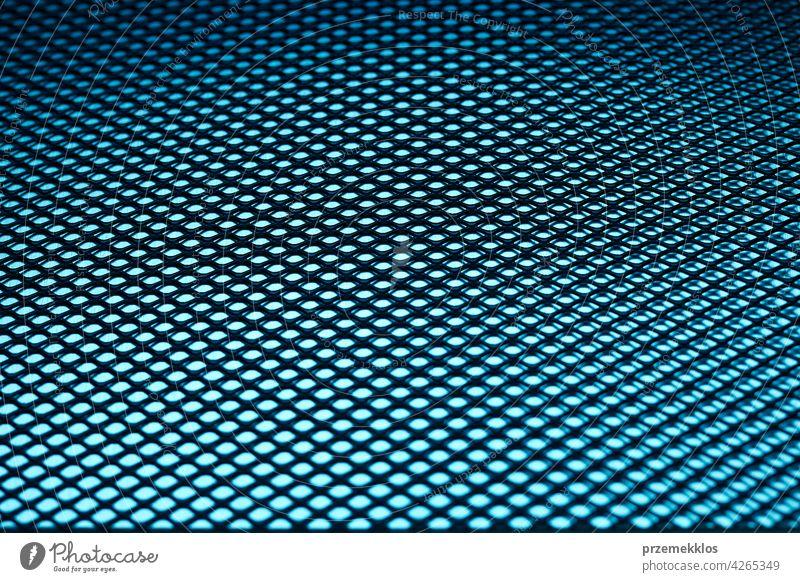 Metal background. Steel surface. Iron blue mesh. Abstract metallic sheet hardware iron steel old used heavy workshop industrial textured aluminium material
