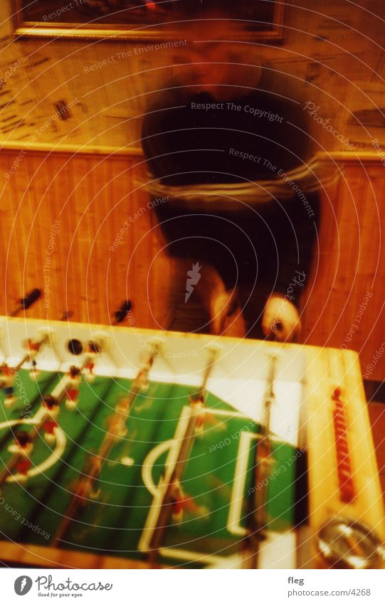 kicker Lomography Action Playing Club Soccer player foosball table blur Movement Joy