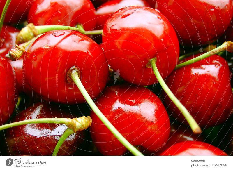 Red & crisp II Cherry Wet Juicy Fresh Drops of water Summer plump