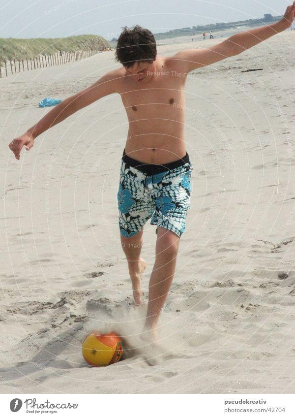 Beach Sports Playing Feet Sand Soccer Action Ball Volleyball (sport) Shot