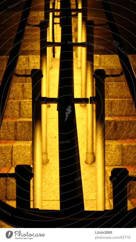 Railing at Cologne Cathedral Night Summer Architecture Handrail Lighting Dome Stairs