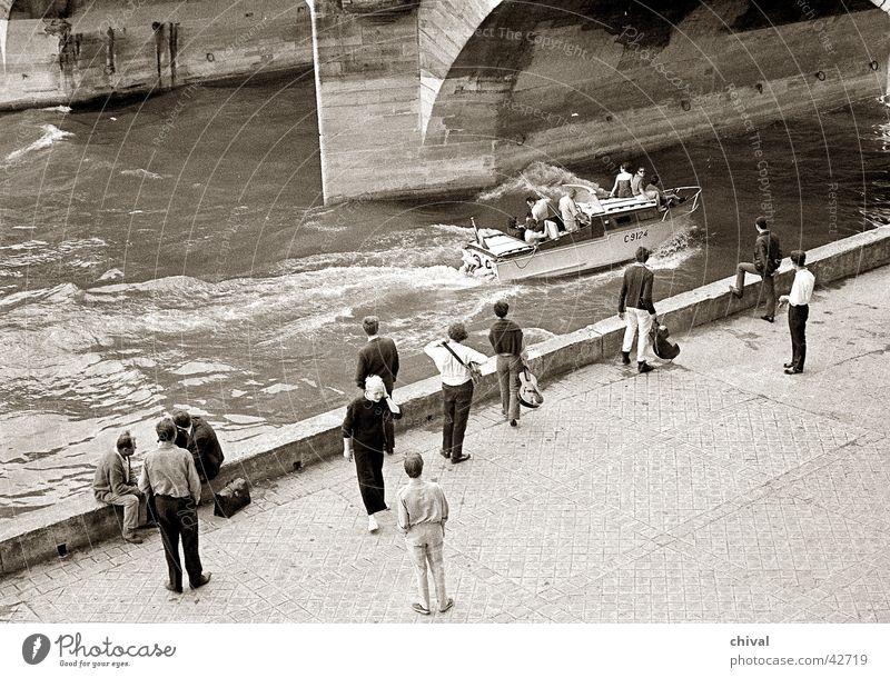Paris 1966 Seine Watercraft Motorboat Leisure and hobbies Group River Coast