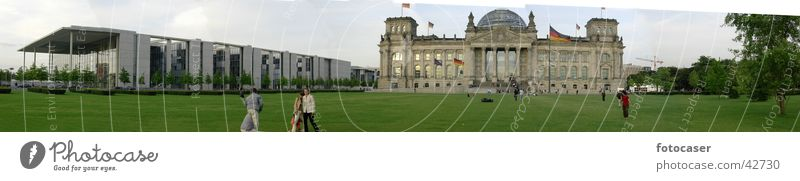 Berlin Architecture Large Panorama (Format) Reichstag Seat of government