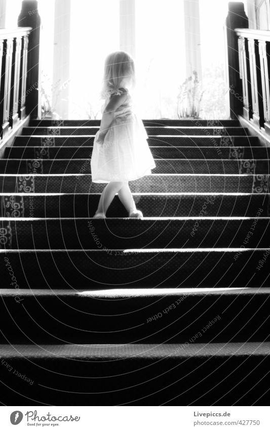 Human being Child Sun Girl Black Feminine Wood Body Stairs Infancy Glass Illuminate Stand Toddler Rotate 1 - 3 years