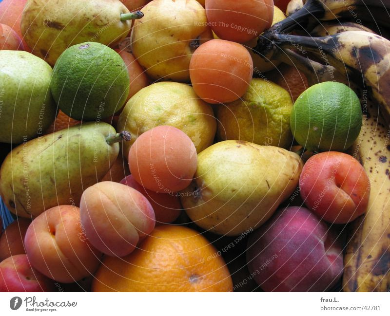 Nutrition Orange Healthy Fruit Apple Delicious Ecological Vitamin Lemon Banana Pear Lime Bowl Peach Apricot Fruit bowl