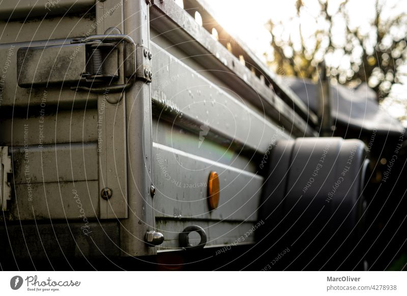 Galvanized Steel Utility Trailer car trailer galvanized industry metallic mode of transport no people steel transportation utility trailer vehicle trailer